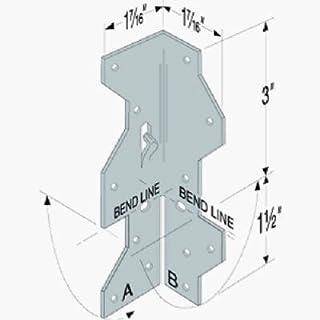 """シンプソンstrong-tie Framing角度1–7/ 16"""" x 1–7/ 16"""" x 4–1/ 2"""" 18Ga Zmax"""