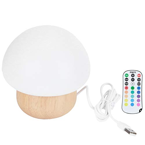 Luz nocturna, segura y no tóxica 3W LED Luz nocturna en forma de hongo USB Luz nocturna para el hogar para fiestas