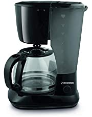 Hommer Coffee Maker, 1.25 Liters - HSA241-01, Black