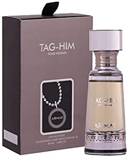 Armaf Tag Him Pour Homme Concentrated French Perfume Oil Alcohol Free For Men 20 ml /.67 oz (Tag Him Pour Homme)