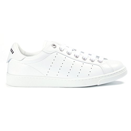 Dsquared Santa Monica Low Perforated Trainer Weiß Gr. 10, weiß