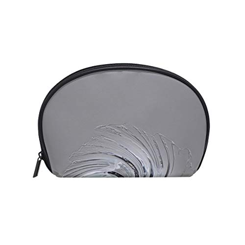 Shell Shape Womens Travel Toiletry Bag Murano Glass Art Glass Bowl Glass Art Shell Print Best Travel Makeup Bag Hair Makeup Organizer Portable Travel Multifunction Storage Bag With Zipper For Women