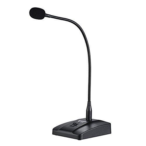 ammoon Microfono Condensador Profesional Escritorio con Cable Cardioide con 10 Pies de XLR a 1/4 ' Cable Desmontable para la Conferencia Reunión Emisión
