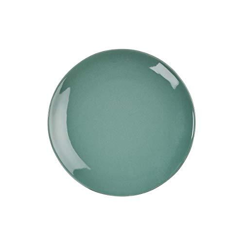 BUTLERS Sphere kleiner Teller Ø 20,5 cm in Dunkelgrün - Frühstücksteller aus Steingut - Dessertteller, Keramikteller