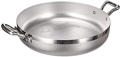 Pentole Agnelli FAMA1022 Tegame con Maniglie, Alluminio, Argento, 22 cm