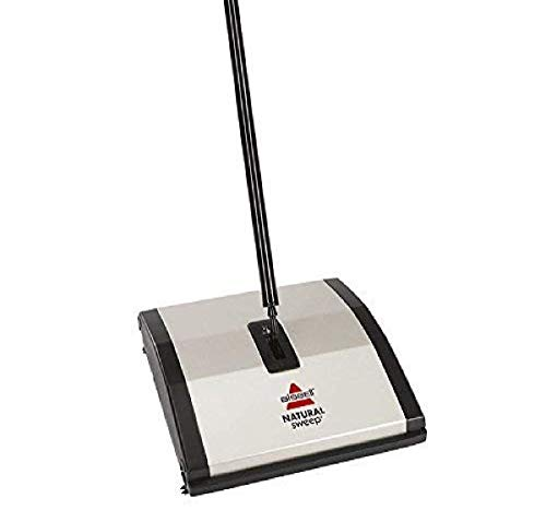 Best floor sweeper - Bissell Natural Sweep Carpet and Floor Sweeper with Dual Rotating System and 2 Corner Edge Brushes, 92N0A, Silver