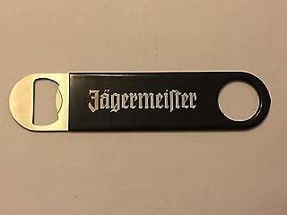Jagermeister Vinyl Wrapped Bottle Opener - Black Handle with White Logo