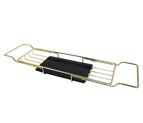 STARAYS badkuip-dienblad van roestvrij staal, zwart accessoire voor de badkamer