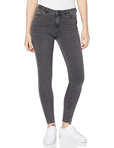 VERO MODA Damen Skinny Jeans VMTERESA MR JNS BA203, Grau (Medium Grey Denim), W31/L32 (Herstellergröße: L)