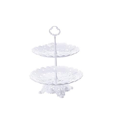 Alzata per torta Porta cupcake Plastica del basamento della torta del piatto di frutta cassetto della torta Dessert Decorazione della tavola continentale Candy Piastra Afternoon Tea Snack Piatto espos
