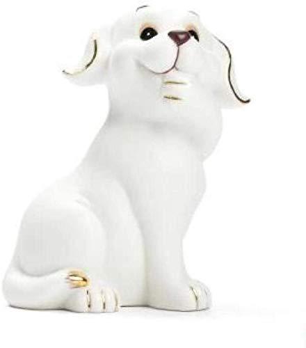 FJSZ Ornament Figurine Porcelain Dog Doll Home Decoration Crafts Ceramic Ornaments Animal Statue Bulldog Sculpture