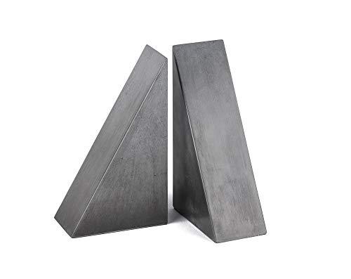 Korn Produkte Doppelt gut – Buchstützen Halt (2 Stück) - aus hochwertigen Beton - schlicht, zeitlos und elegant.