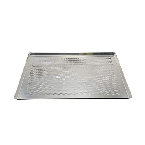 Porcyco Bandeja de hornear, rectangular perforada, bandeja de horno de aluminio, bandeja de horno con bordes para hornear, saludable y no tóxico, fácil de limpiar y apto para lavavajillas (40 x 30 cm)