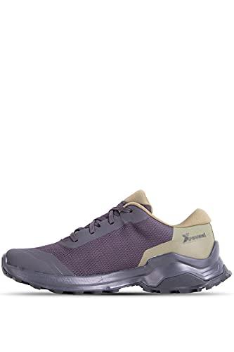 Salomon X Reveal Gore-Tex (impermeable) Hombre Zapatos de trekking, Negro (Phantom/Burnt Olive/Black), 40 EU