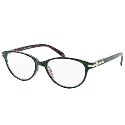 エール 老眼鏡 2.0 度数 プラスチックフレーム バネ蝶番 グリーン AP135S
