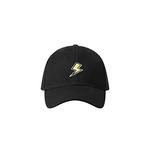 ZZYJYALG Sombreros para Hombres Cápsula de béisbol clásico Papá Hat 100% algodón Tamaño Ajustable Suave Hip Hop Hop Sombrero Amarillo Relámpago Bordado Curvado Cap Cap Joker Soft Top Hat Outdoor Ocio