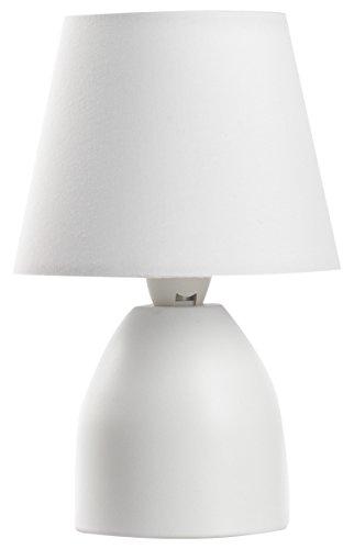 Onli Nano Lampada da Tavolo E14, Bianco, 13 cm x h 19 cm