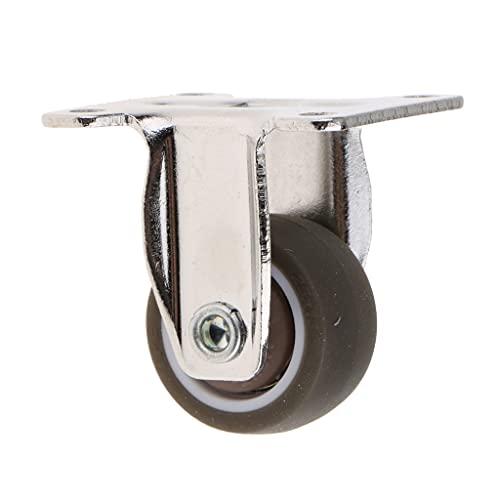 TWDYC Caster de Placa de Rueda de Goma Fija para Trabajo Pesado para Carro, Carro, Muebles (Size : 1.25 Inch)