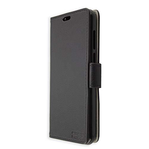 caseroxx Handy Hülle Tasche kompatibel mit Neffos/TP-Link C9a (Aldi-Smartphone) Bookstyle-Hülle Wallet Hülle in schwarz