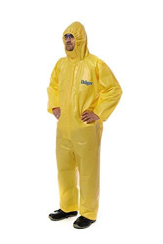 Dräger SPC 4400 CPM Mono Amarillo de Seguridad y protección Laboral | Uso con respiradores y mascarillas | Industria de residuos desechos y Agua | Talla XL