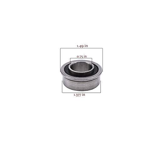 Front Wheel Bearing Flanged Ball Bearings 532009040 532124959 AM118315 AM127304 Replacement for Husqvarna John Deere Ariens MTD for Lawn Mower Wheelbarrows