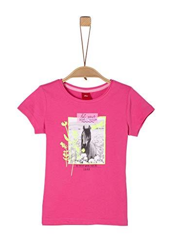 s.Oliver Junior Mädchen T-Shirt, 4464 purple/pink, 116/122/REG
