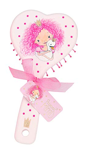 Cepillo de pelo Depesche 6412 en forma de corazón Princess Mimi, aprox. 16 x 7,9 x 3,5 cm, varios colores. , color/modelo surtido