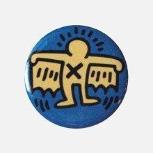 Keith Haring Round Magnet キース・ヘリング マグネット 丸型 (Batman)