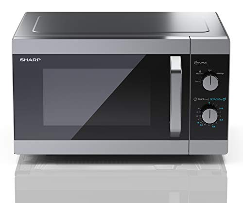 31iPv9iTkDL - Sharp YC-MS31U-S 900W Solo Microwave Oven with 23 L Capacity, 5 Power Levels & Defrost Function – Silver