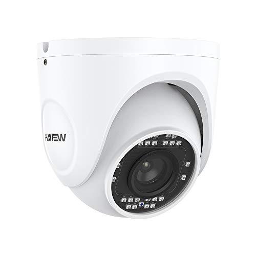 H.VIEW 4K Dome PoE Kamera 8MP IP Überwachungskamera(3840x2160P) mit 5X Optischer Zoom 2,7mm-13.5mm Motorisierter Zoom und Fokus IP66 Wetterfest Onvif mit Audio