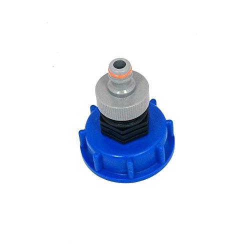 CMTech GmbH Montagetechnik *CM13599 Kappenverschraubung S60x6 mit Stecker passend für Gardena, IBC-Container-Zubehör-Regenwasser-Tank-Adapter-Fitting-Kanister