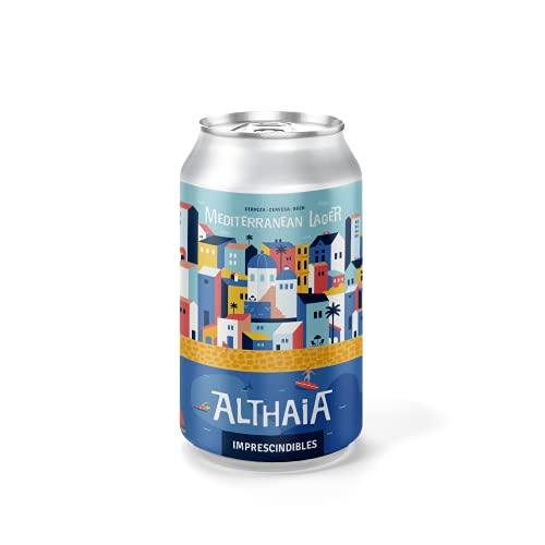 Cerveza Mediterranean Lager - Pack 6 unidades - Cervezas Althaia - Cerveza artesana - Premiadas Internacionalmente. Regalos especiales. Lata 33cl. Craft Beer