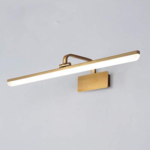 005 Led Espejo Faro Maquillaje lámpara vestidor luz luz de Espejo de perforación Libre (Size : 44cm)