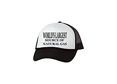 Rogue River Tactical Funny Trucker Hat World's Largest Source Of Natural Gas Baseball Cap Retro Vintage Joke