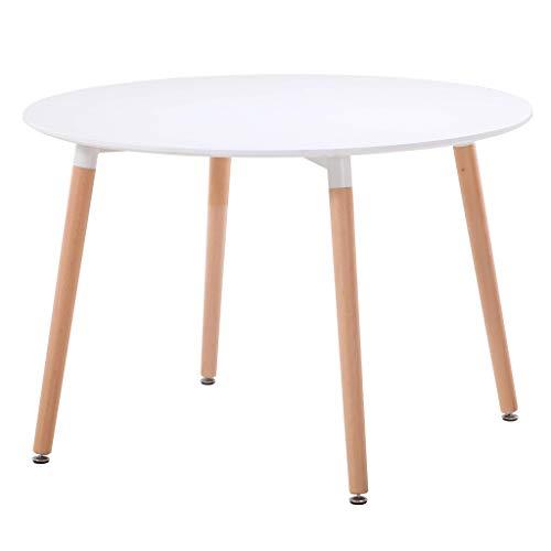 Milani Home s.r.l.s. Tavolo da Pranzo Moderno di Design Rotondo Piano in ABS Bianco...