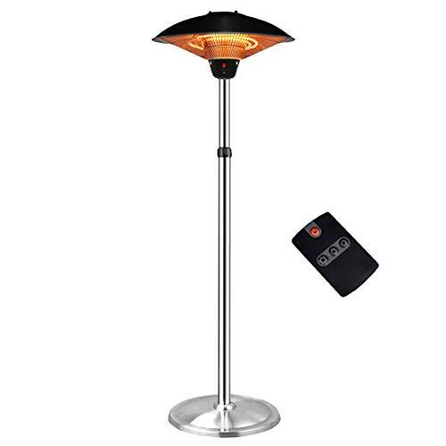 Aokairuisi Freestanding Patio Heater Outdoor Electric Heater Umbrella-Shaped Adjustable Height Heater Indoor Infrared Heater (Remote Control)