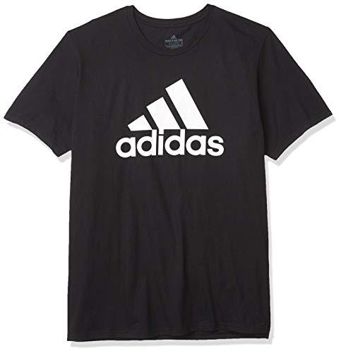 adidas mens Basic Badge of Sport Tee Black/White 3X-Large