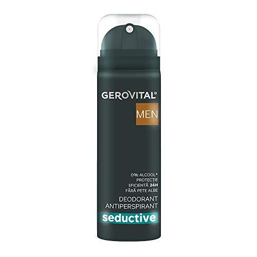 Gerovital Men, Desodorante - Antitranspirante Seductor, Cuidado corporal Antitranspirante, 150 ml