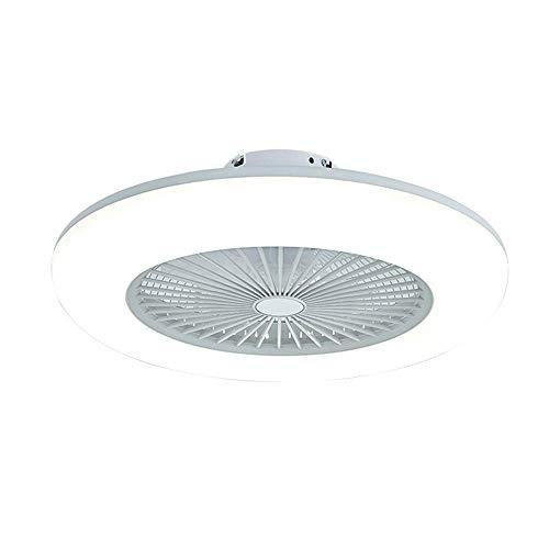 LED-Deckenventilator mit Lichtern, die mit der Fernbedienung stufenlos dimmbar sind, moderne 3-Gang-Deckenleuchten Esszimmer Schlafzimmer Fernbedienungslüfterlampen , Weiß
