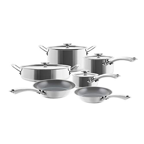 Chantal 3.Clad Cookware, 10 pieces, Stainless Steel