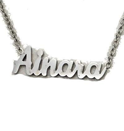 Jey Collar Nombre Mujer INOX (Plata, Ainara)