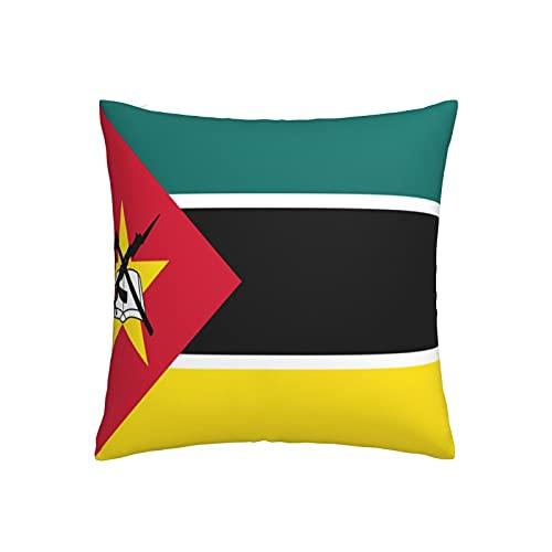 Kissenbezug mit Flagge von Mosambik, quadratisch, dekorativer Kissenbezug für Sofa, Couch, Zuhause, Schlafzimmer, Indoor Outdoor, niedlicher Kissenbezug 45,7 x 45,7 cm