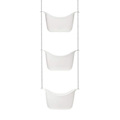 Umbra, White Bask Hanging Shower Caddy, Bathroom Storage and Organizer for Shampoo, Conditioner, Bath Supplies and Accessories, 11-1/4' x 5-1/4' x 36-1/2' h