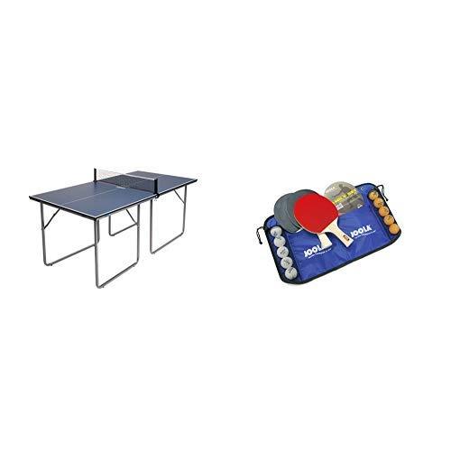 JOOLA Tischtennisplatte Midsize, 168 x 84 x 76 cm & JOOLA Tischtennis-Set Family , 4 Tischtennisschläger + 10 Tischtennisbälle + Tasche