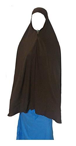 "bonballoon Brown Extra Long 42"" Khimar Amira Hijab Hejab Abaya Niqab Burqa Burkas Veil Eid Islamic Modest Muslim Islam Face Cover Dress Clothing Muslim Women Womens Abaya Jilbab Prayer Overhead"