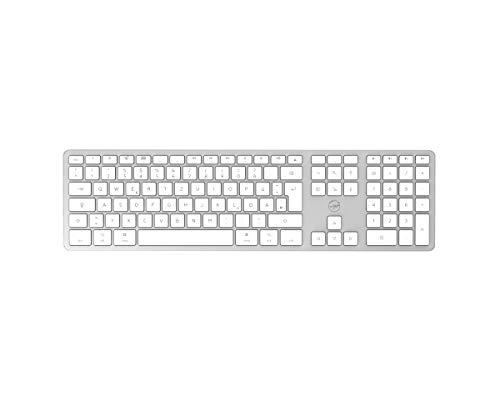 Mobility Lab ML311869 kabellose Tastatur mit dem Deutschen QWERTZ Tastaturlayout für Mac – Weiß/Silber