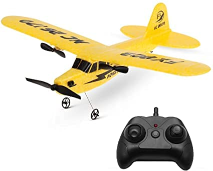 s-idee® 21002 Piper J3 FX803 - Avión teledirigido con tecnología de 2,4 GHz, con batería de polímero de litio