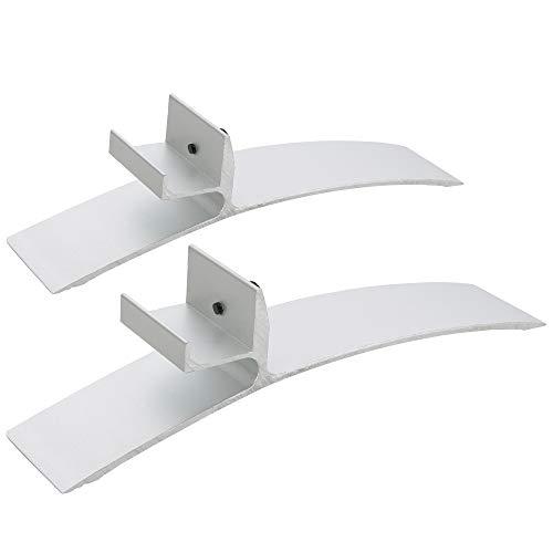 Arebos Standfüße für Wandheizungen Infrarotheizungen / 2er Pack/Robustes Metall/Silber