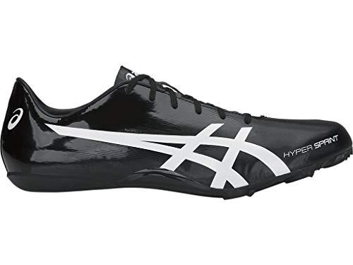 ASICS Unisex Hyper Sprint 7 Track & Field Shoes, 9.5W, Black/White