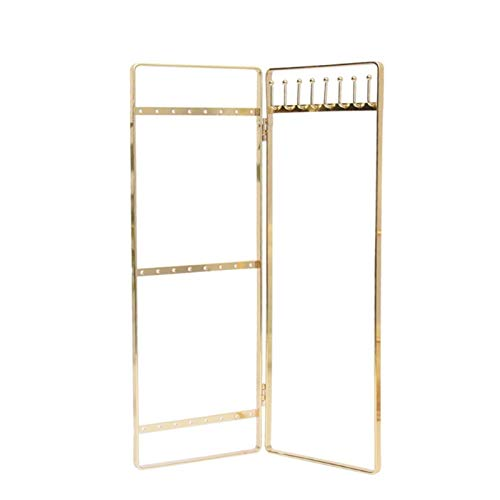 N-B Foldable Metal Jewelry Holder Portable Earrings Necklaces Jewelry Display Rack Jewellery Stand